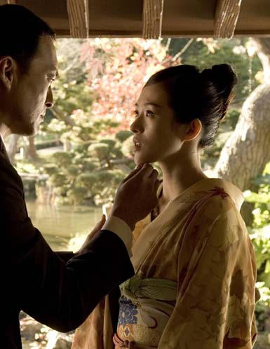 Zhang Ziyi and Ken Watanabe in 'Memoirs of a Geisha'