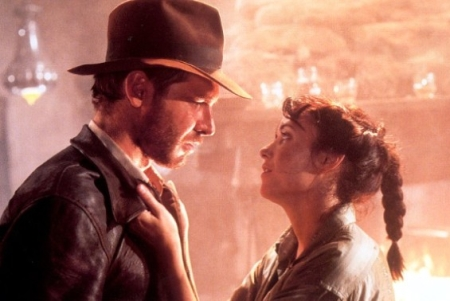 Karen Allen and Harrison Ford in 'Raiders Of The Lost Ark'