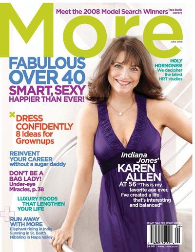 Karen Allen - June Issue of 'More'