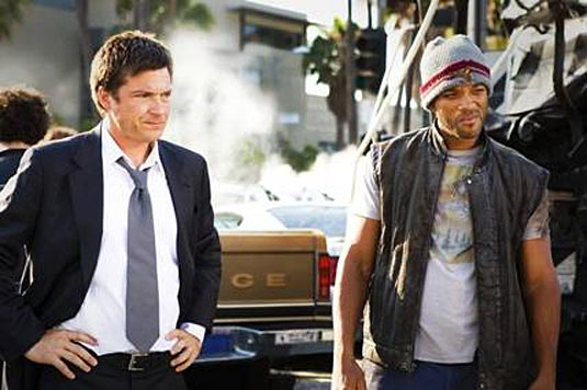 "Jason Bateman and Will Smith in ""Hancock."""