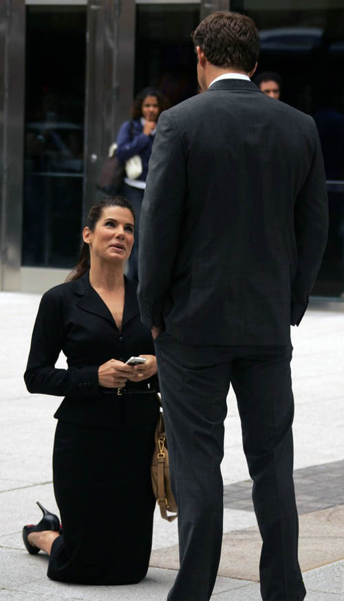 The Proposal Sandra Bullock And Ryan Reynolds On The Set