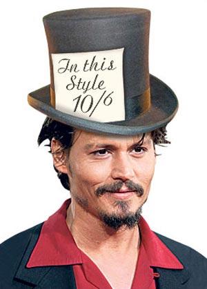 "Johnny Depp Enters ""Alice In Wonderland"" as Mad Hatter"