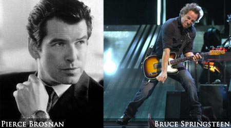 Pierce Brosnan wants to star in a musical about Bruce Springsteen.