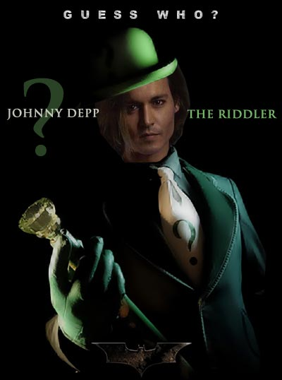 Johnny Depp - The Riddler. Speculations of Batman's future villains