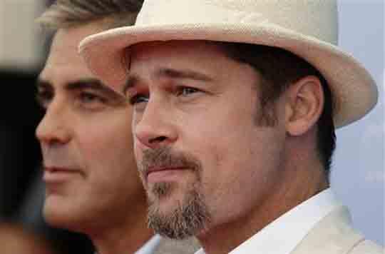 George Clooney, Brad Pitt, Venice film festival