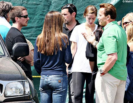 "Arnold Schwarzenegger Spotted on the ""Terminator Salvation"" Set"