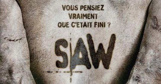 Saw V French Poster