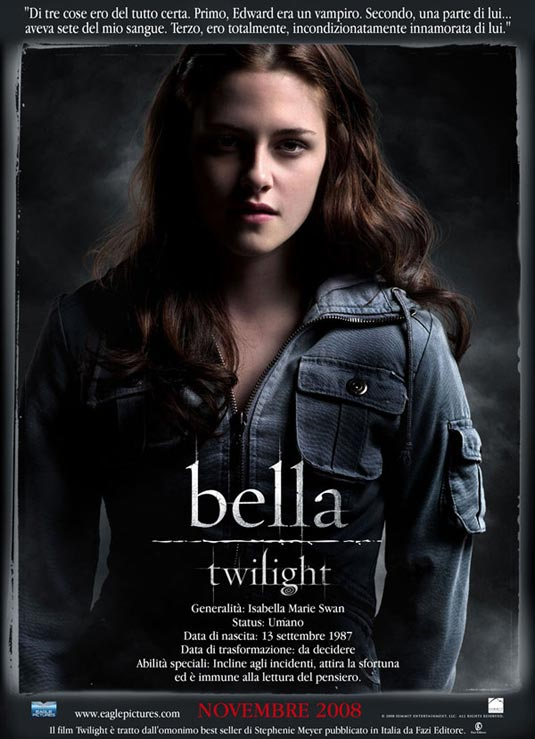 Twilight - Adapté de Fascination de Stephenie Meyer - Réalisé par Catherine Hardwicke Twilight-poster-italiano-2