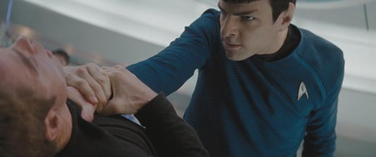 Spock (Zachary Quinto) getting angry - From Ain't it Cool