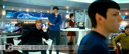The crew on the bridge of the Enterprise – From MTV