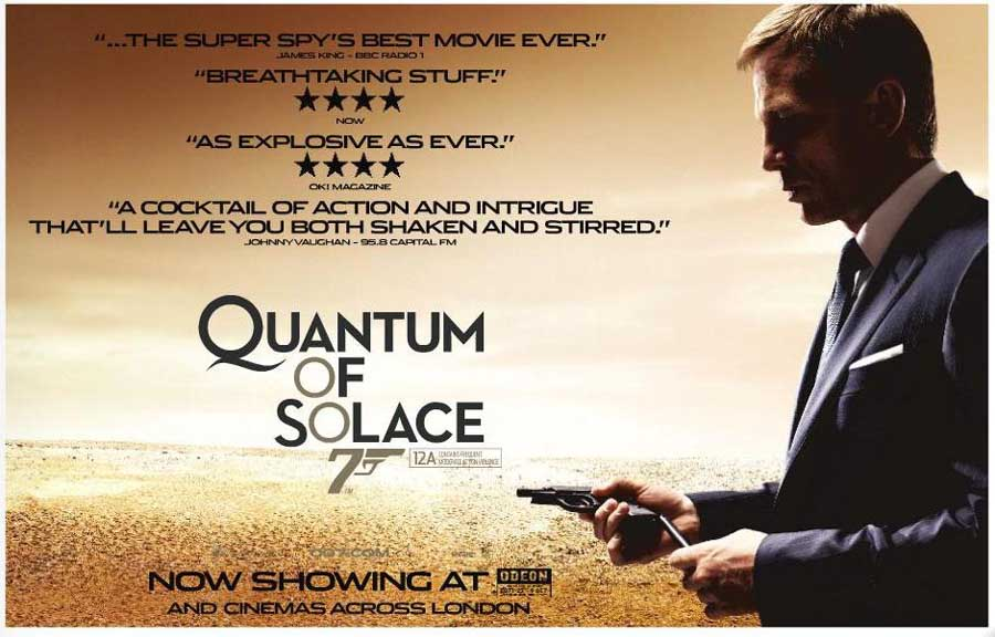 Image result for quantum of solace film poster