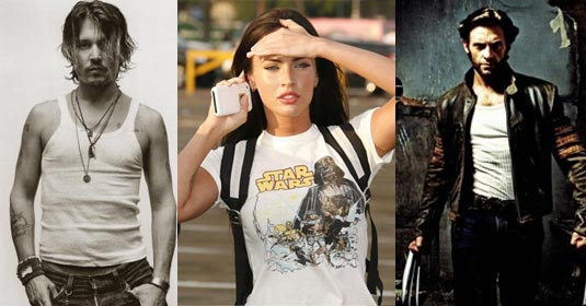 Megan Fox, Johnny Depp & Hugh Jackman Top the Fandango 2009 Hot List