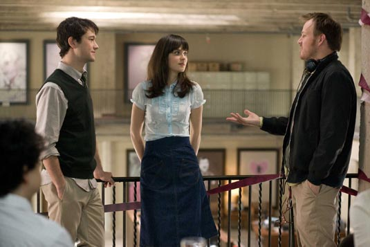 Joseph Gordon-Levitt, Zooey Deschanel and Director Marc Webb in (500) Days of Summer.