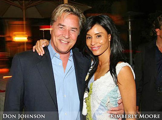 Don Johnson and Kimberly Moore
