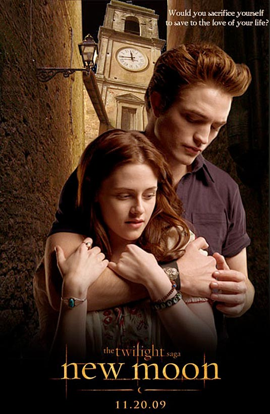 Kristen Stewart and Robert Pattinson - New Moon poster