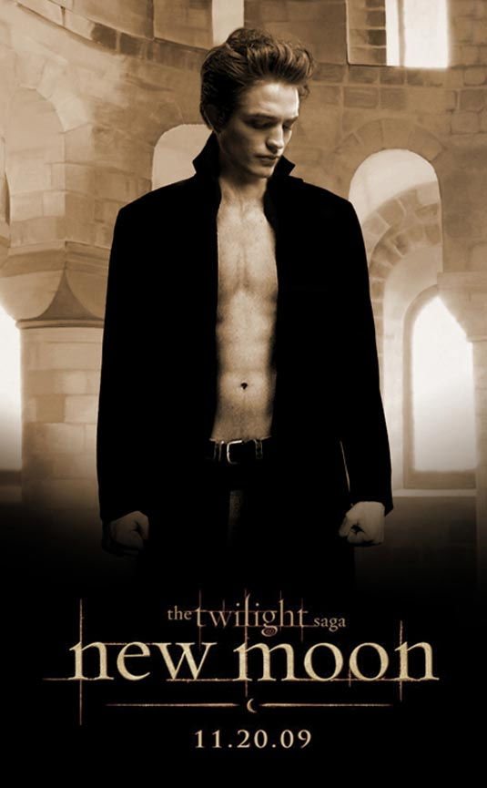 Robert Pattinson as Edward Cullen - New Moon poster