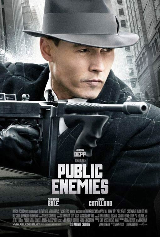 Public Enemies Poster, Johnny Depp as John Dillinger
