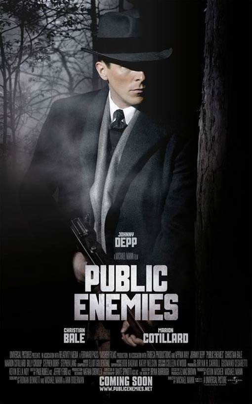 Public Enemies Poster, Christian Bale as Melvin Purvis