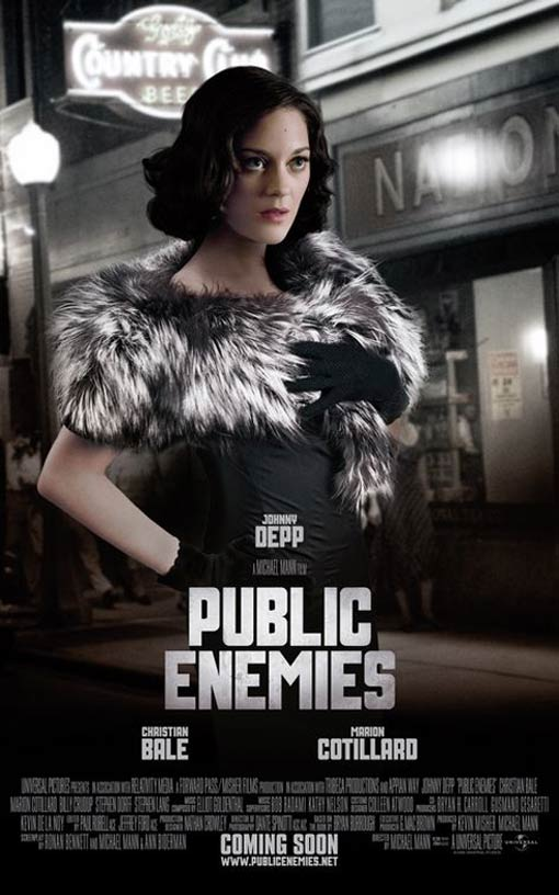 Public Enemies Poster, Marion Cotillard as Billie Frechette