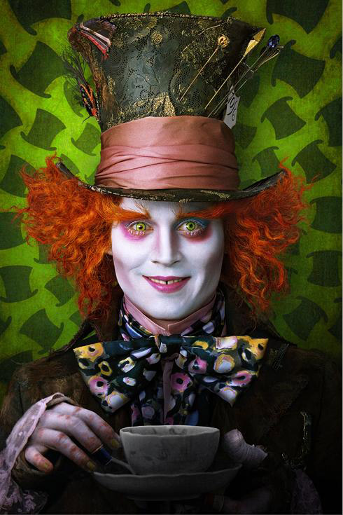 Johnny Depp as the Mad Hatter
