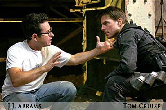 J.J. Abrams and Tom Cruise
