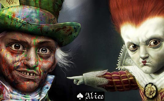 Alice in Wonderland | Mad Hatter & Red Queen