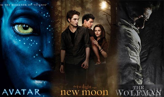 Upcoming movies: Avatar, New Moon, The Wolfman