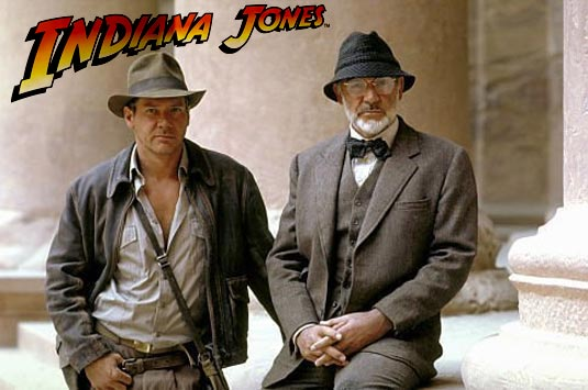 Sean Connery and Harrison Ford, Indiana Jones