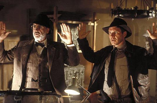 "Sean Connery and Harrison Ford in ""Indiana Jones and the Last Crusade""."