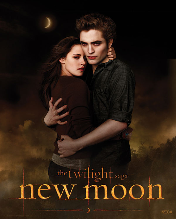 New Moon Poster, Robert Pattinson (Edward Cullen) and Kristen Stewart (Bella Swan)