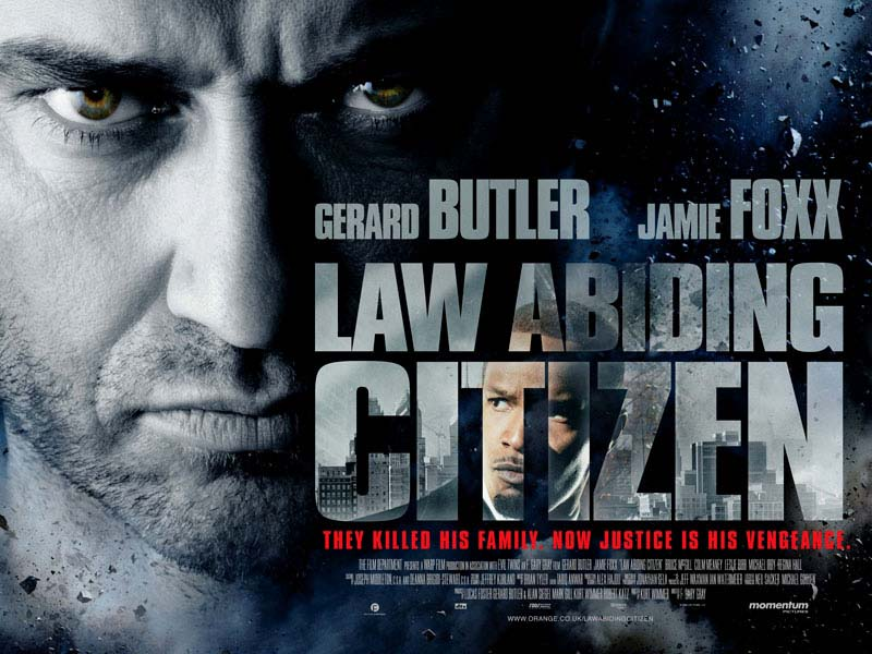 "Two new posters for psychological thriller ""Law Abiding Citizen"" have been"
