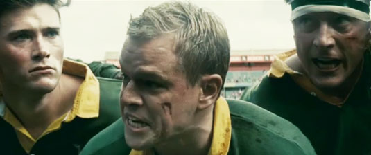 Matt Damon as Springboks captain Francois Pienaar, Invictus