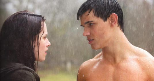New Moon, Kristen Stewart and Taylor Lautner