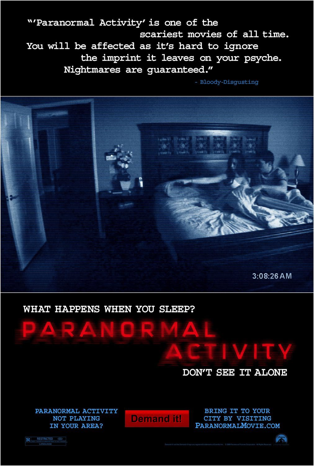 Paramount Thanks Fans By Featuring Them In Credits On Paranormal Activity DVD And Blu Ray