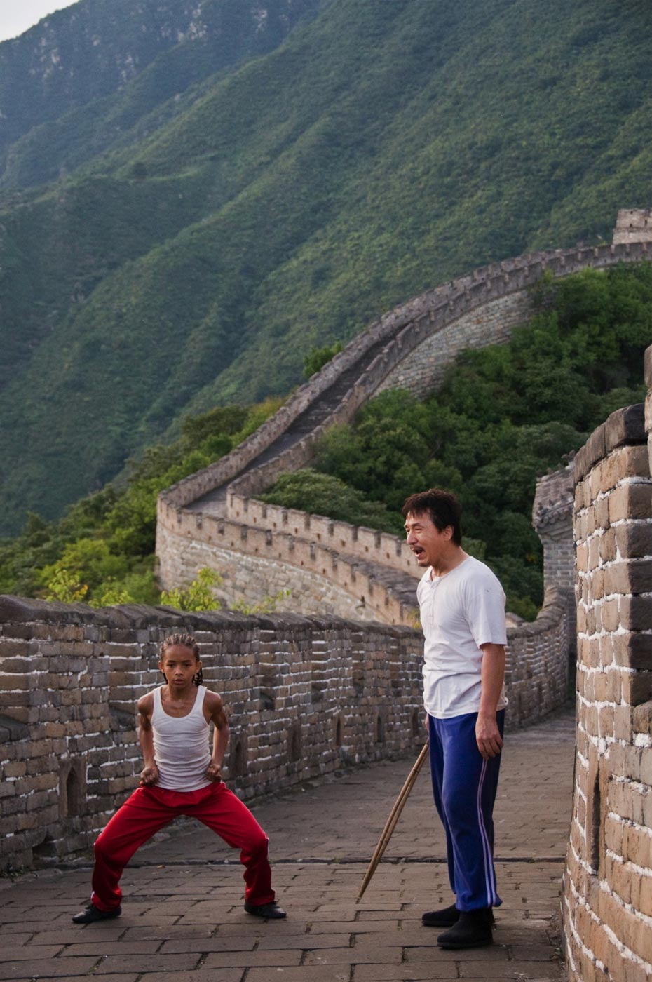 The Karate Kid,  Jaden Smith as Dre Parker and  Jackie Chan as Mr. Han