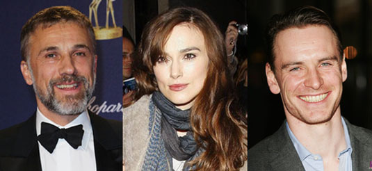 Christoph Waltz, Keira Knightley, Michael Fassbender