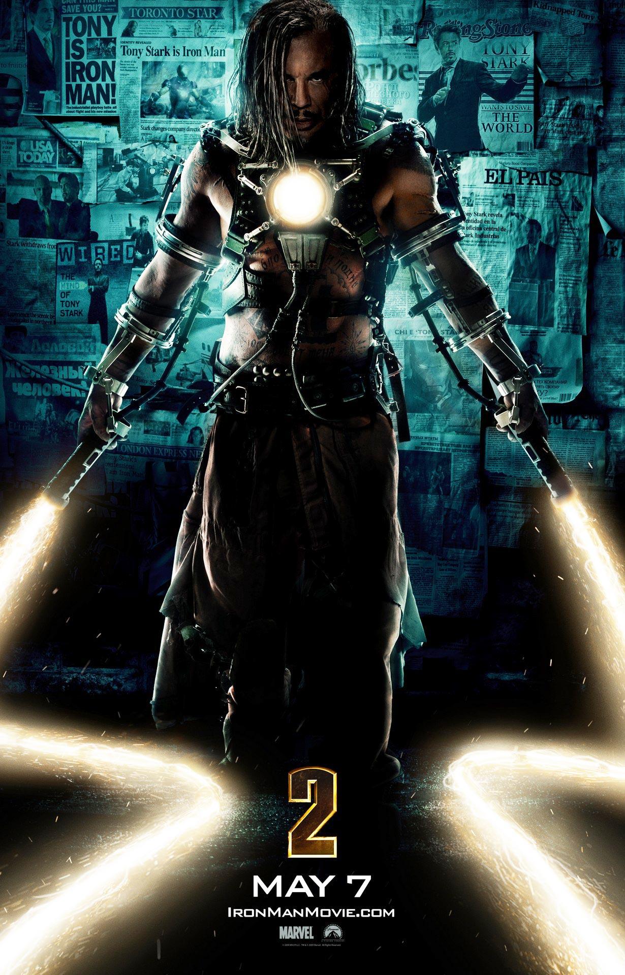 Iron Man 2 Poster | Mickey Rourke, Whiplash