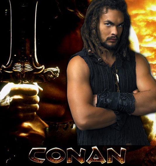 Jason Momoa Cast As Conan The Barbarian. Mickey Rourke To