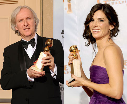 Golden Globe 2010, James Cameron, Sandra Bullock