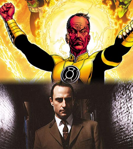Mark Strong & Sinestro. Green Lantern