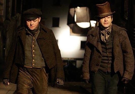 Burke and Hare photo, Simon Pegg and Andy Serkis