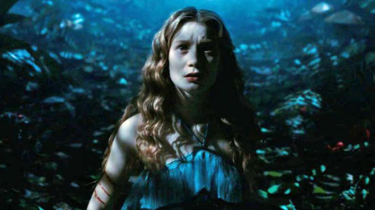 Mia Wasikowska as Alice in Tim Burton's Alice in Wonderland