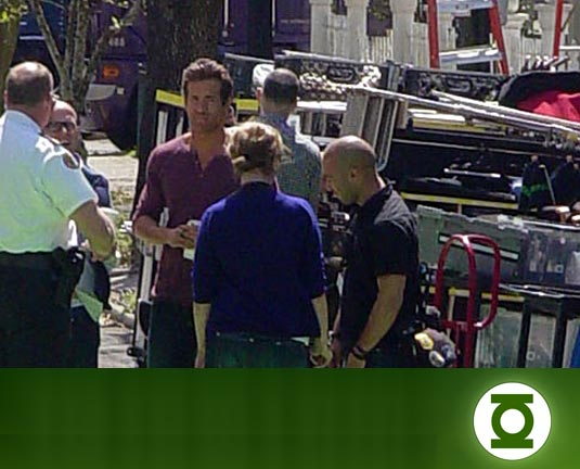 Green Lantern set photo