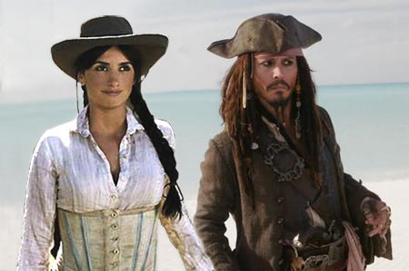 pirates 4, penelope cruz and johnny depp