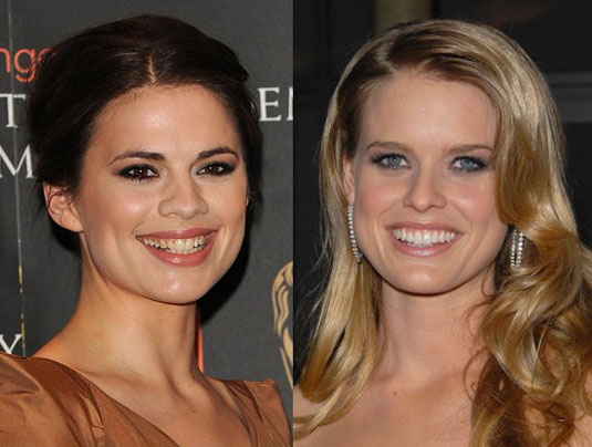 Hayley Atwell and Alice Eve