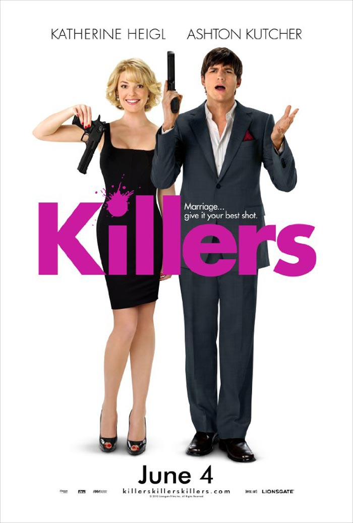 Killers Poster, Ashton Kutcher and Katherine Heigl