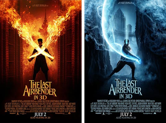 Two New Last Airbender Posters Zuko And Aang Filmofilia