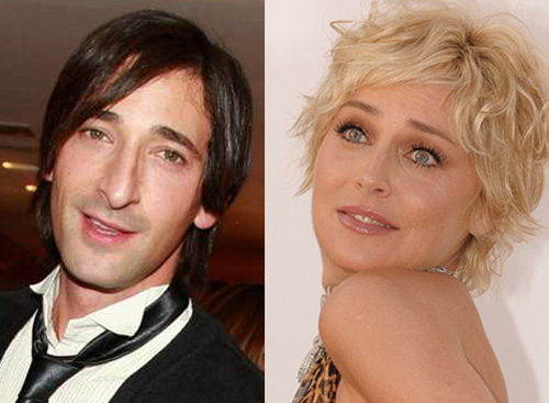 Adrien Brody and Sharon Stone