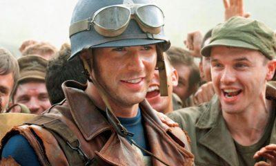 Chris Evans as Steve Rogers in Captain America: The First Avenger