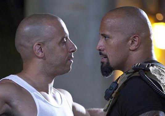 Fast Five, Vin Diesel and Dwayne Johnson